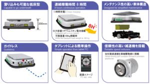 ビジョンシステム搭載無人搬送ロボットS-CART-V100_特長