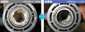 水処理装置ピュアキレイザー_銅めっき洗浄水における改善効果