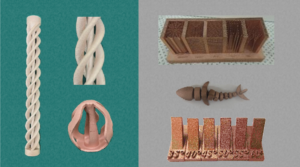 金属3Dプリンター銅造形品