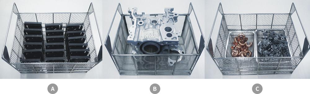 炭化水素系部品洗浄機知能シリーズ_AIRDry 多種類のワークを洗浄する場合の乾燥所要時間の例